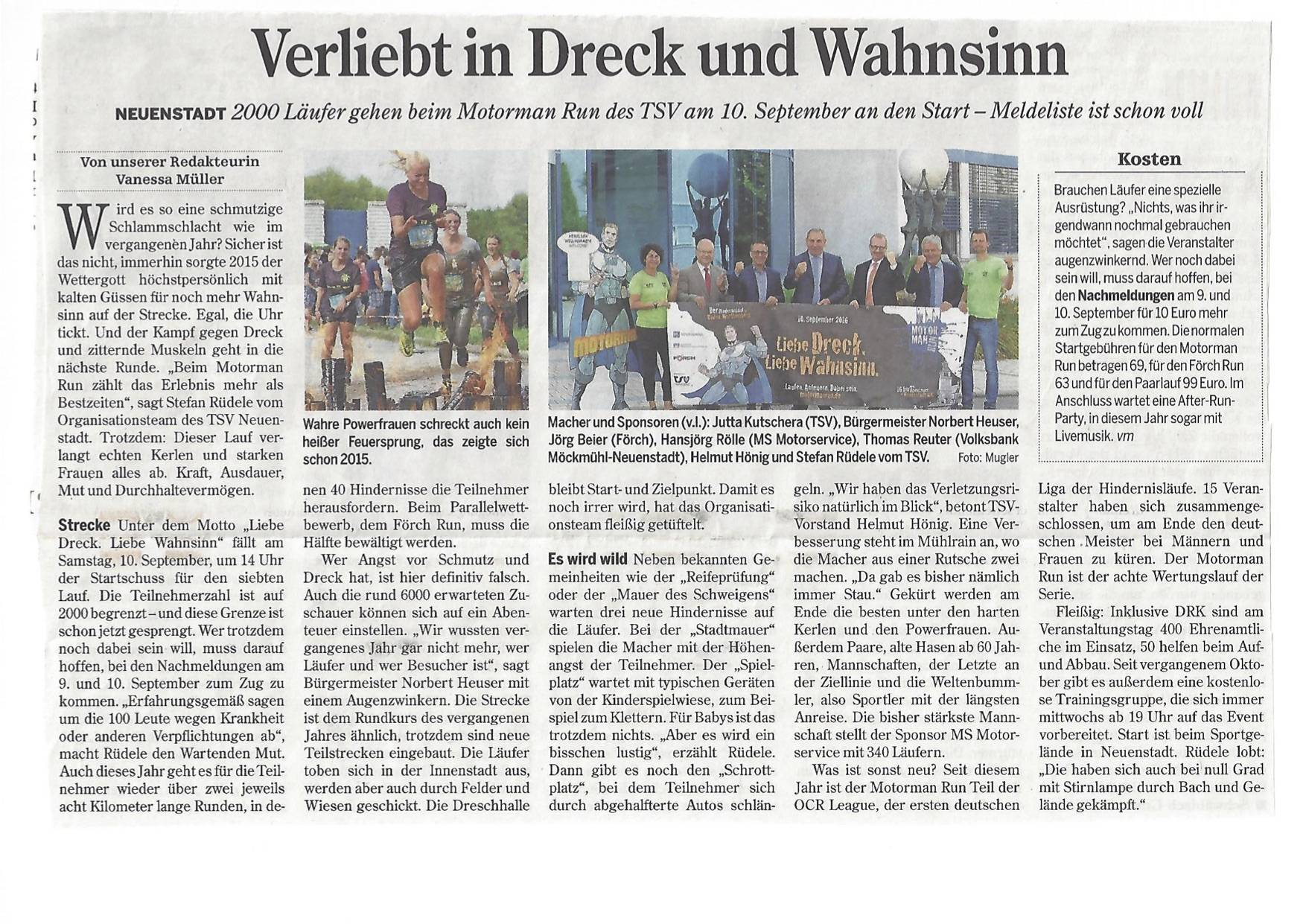 Bericht Heilbronner Stimme Aug.16 Artikel